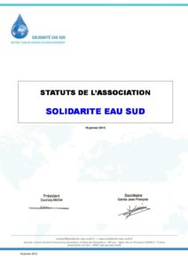 les statuts de Solidarité Eau Sud